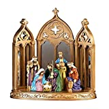 Collections Etc Mirrored Christmas Nativity Scene Decoration