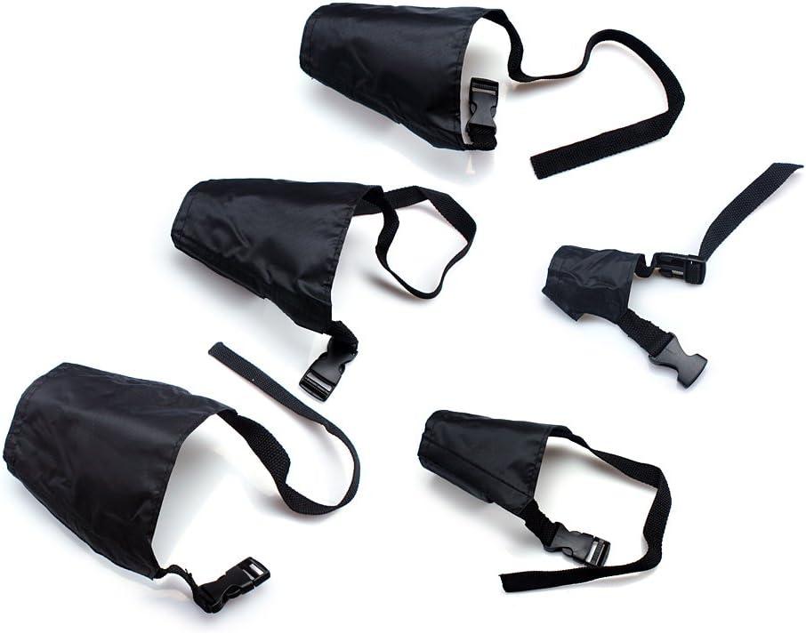 ewinever Ewin24 Paquete De 5 Transpirable Seguridad Pequeño Mediano Grande Extra Negro Perro Bozal Muzzel Ajustable