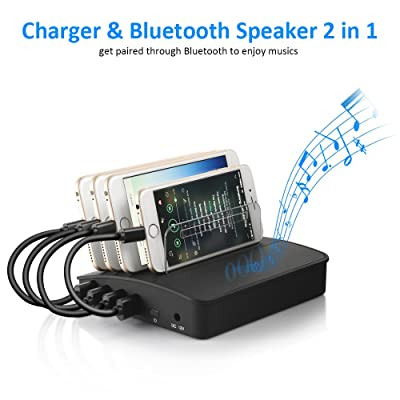 Charging Station, Siroflo 4-Port USB Charging S...