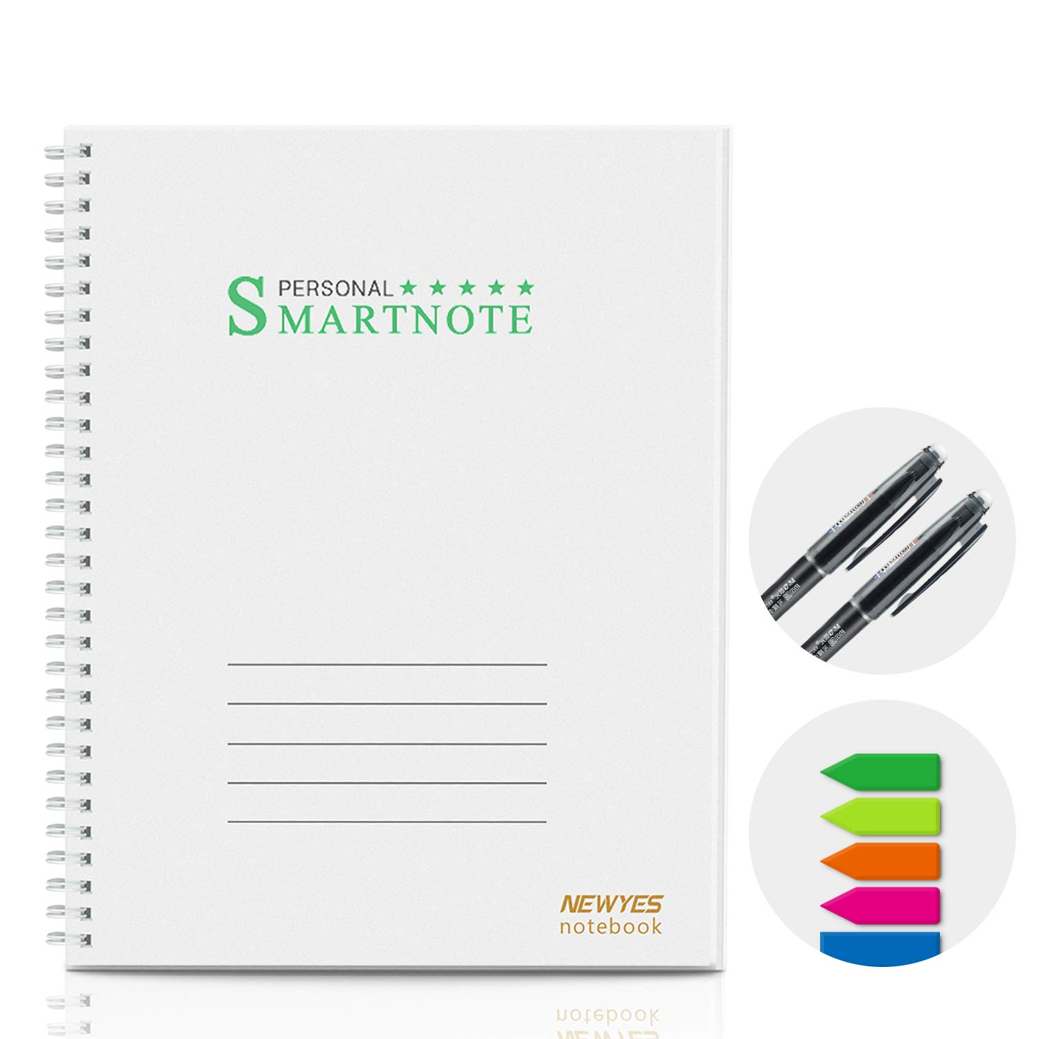 Reusable Erasable Smart Notebook College Ruled Sketch Pads, Letter Size 40  Pages