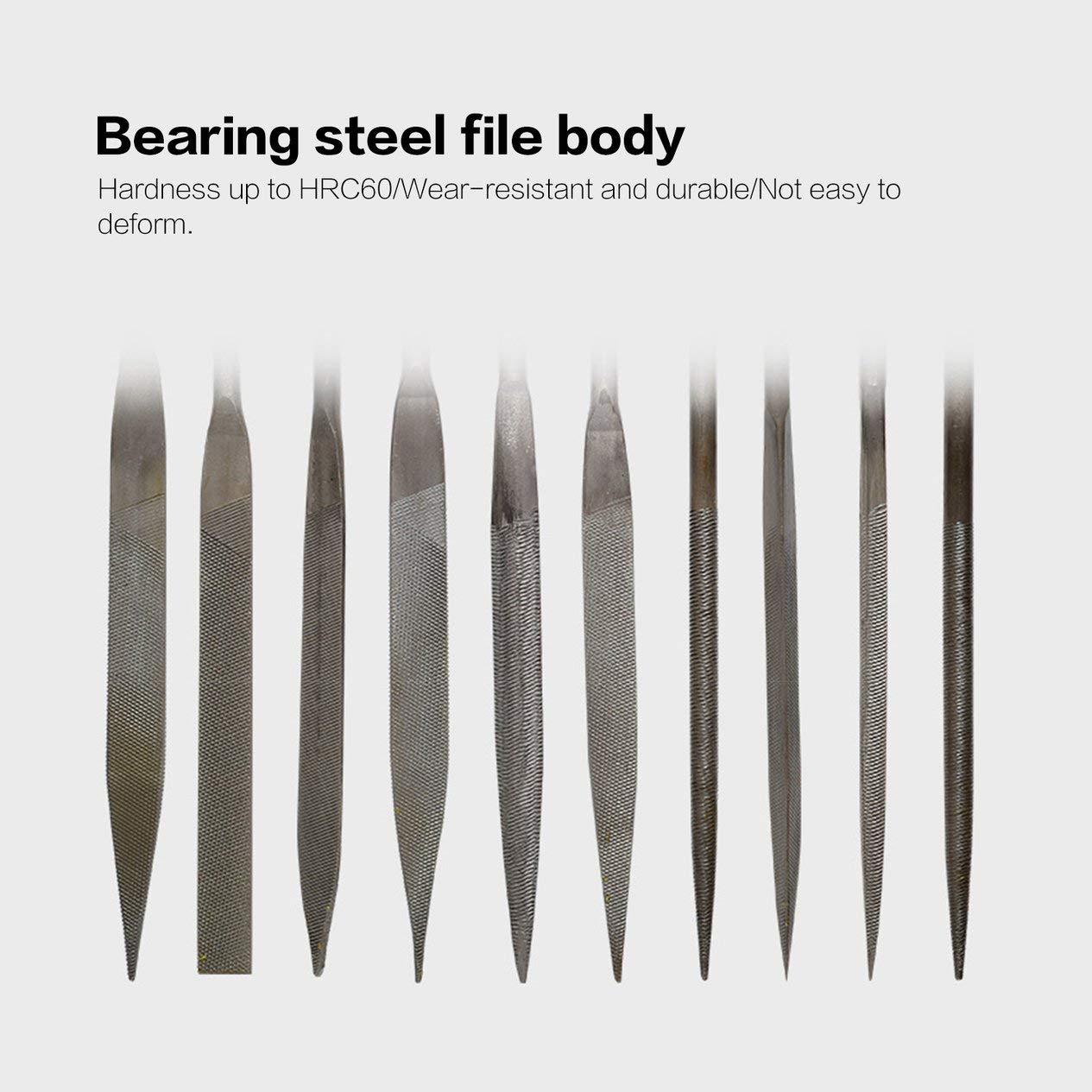 EdBerk74 10 PCS Archivos de escofina de madera Needle T12 Mini File Set Herramientas de talla Herramienta de archivo de metal Carpinter/ía DIY Hobby Hand Tool