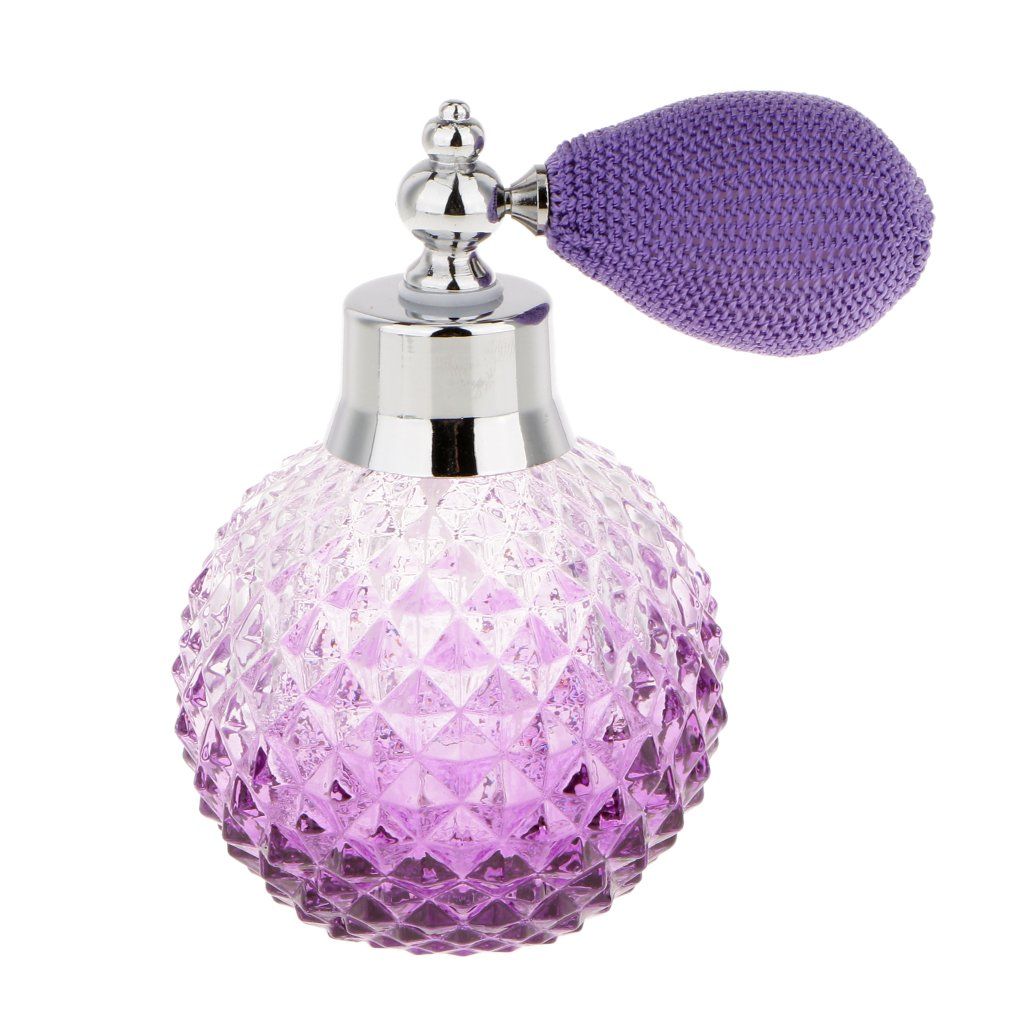 MagiDeal 6 Colors 100ml Vintage Crystal Glass Atomizer Perfume Bottle Spray Lady Gift - Purple, 100 ml