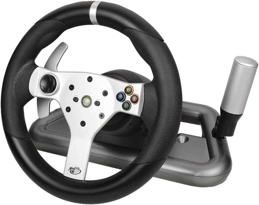 Mad Catz Wireless Force Feedback Wheel for Xbox 360 - Volante/mando (Rueda + Pedales, Xbox, D-pad, Inalámbrico, RF, Negro): Amazon.es: Videojuegos