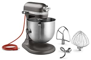 KitchenAid KSM8990DP 8-Quart Commercial Countertop Mixer, 10-Speed, Gear-Driven, Dark Pewter