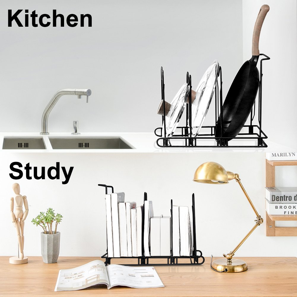 Pans and Pots Rack Lids Holder Detachable Kitchen Cabinet Organizer Stand by jiebolang (Image #6)