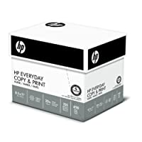 HP Printer Paper, Copy and Print20, 8.5 x 11, Letter, 20lb, 92 Bright, 2,500 Sheets / 5 Ream Carton (200350C) Made In The USA