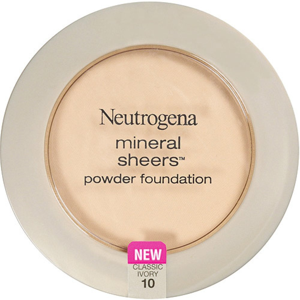 NEUTROGENA - Mineral Sheers Powder Foundation #10 Classic Ivory - 0.34 oz (9.6 g) CA-NMS05513