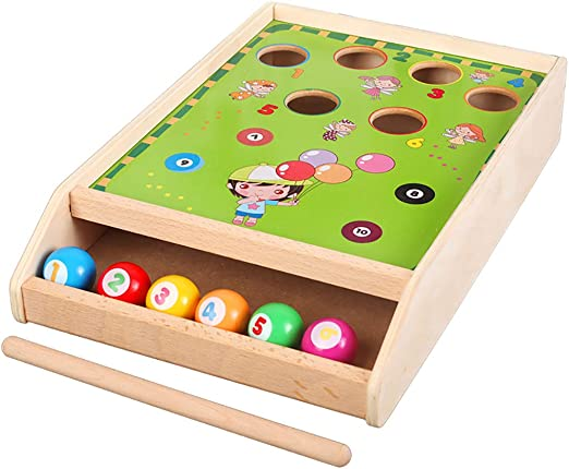 YHDD Educativo Infantil de Madera Mini Billar Divertido Juego de ...