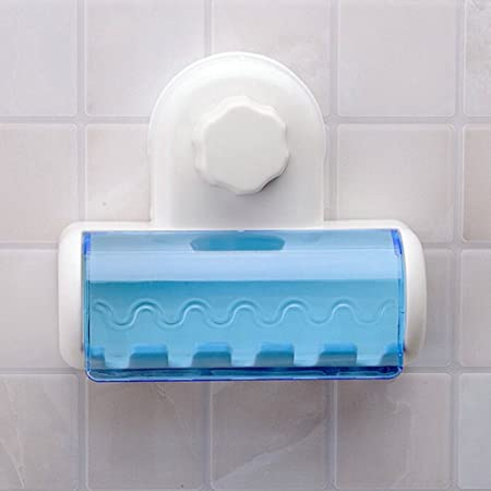 Amazon.com: Suction Cup Toothbrush Holder, 5-Hooks Wall Mount Bathroom Toothbrush Spin Brush Rack Stand (Blue+White): Home & Kitchen