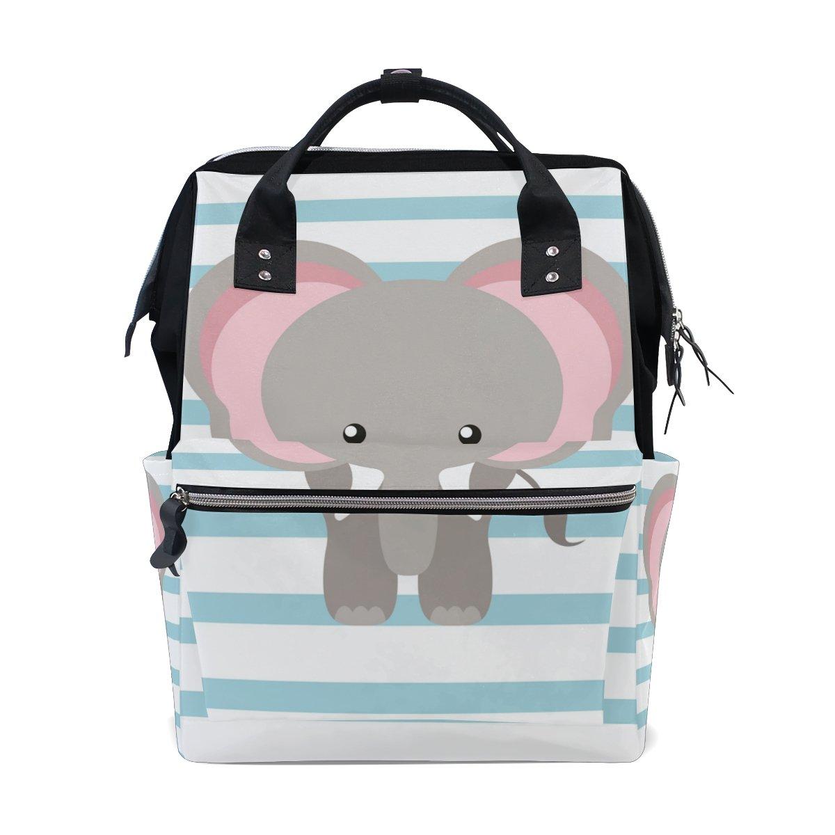 School Travel Backpack Elephant Laptop Daypack Large Diaper Bag Doctor Bag