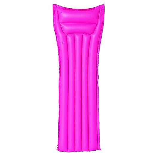 iDiffusion - Colchón Hinchable Hinchable, Color Rosa Mate: Amazon ...