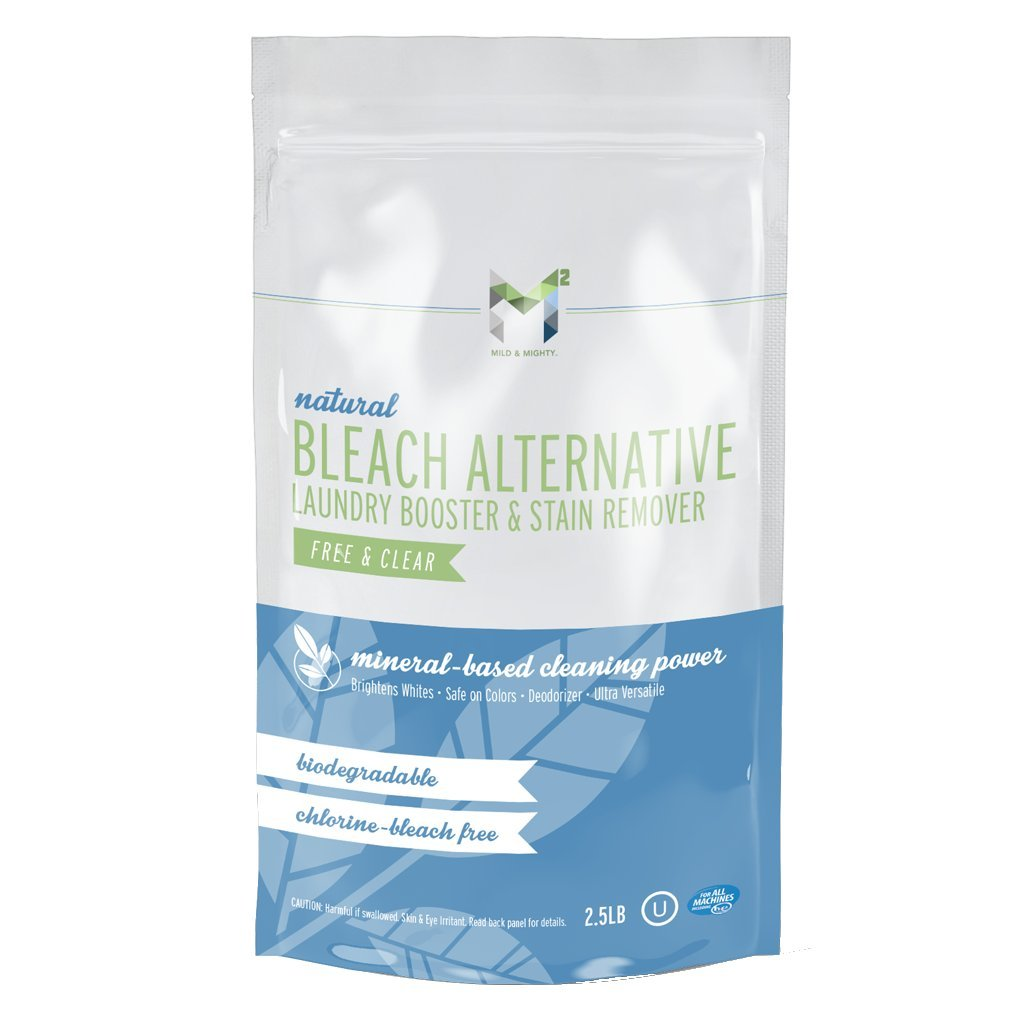 M2 Mild & Mighty Oxy-Boost Bleach alternative laundry booster and stain remover all natural 2.5 lb.