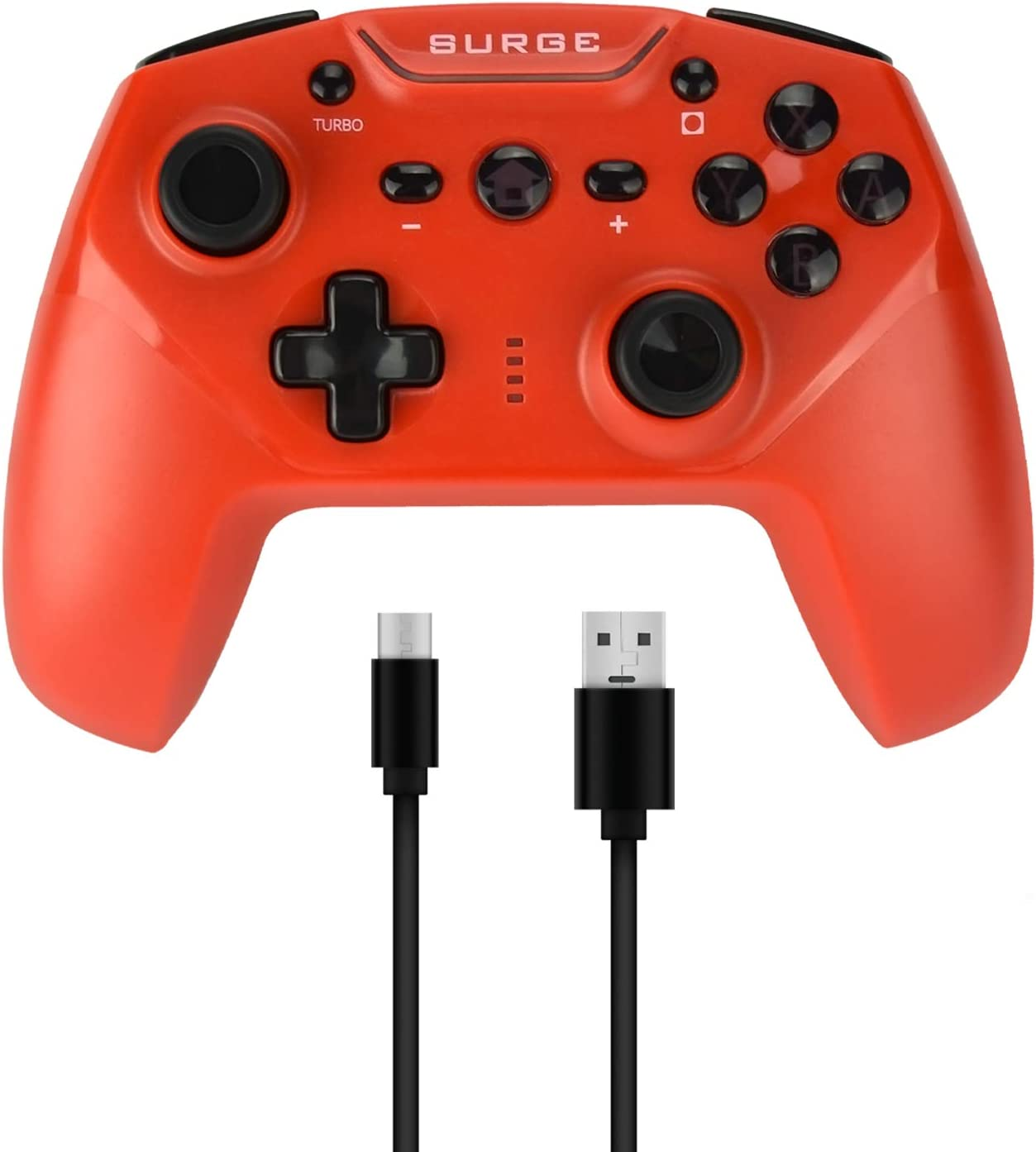 Surge Switchpad Pro Wireless Controller For Nintendo Switch   Red   Nintendo Switch by By          Surge