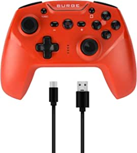 Surge Switchpad Pro Wireless Controller for Nintendo Switch - Red - Nintendo Switch