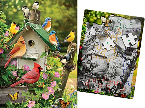 Keeping Busy Singing Around The Birdhouse 35 Piece Sequenced Jigsaw Puzzle Engaging Activities / Puzzles / Games for Dementia and Alzheimers for Older Adults