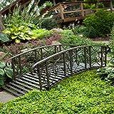 6-ft. Metal Garden Bridge Willow Creek Lawn