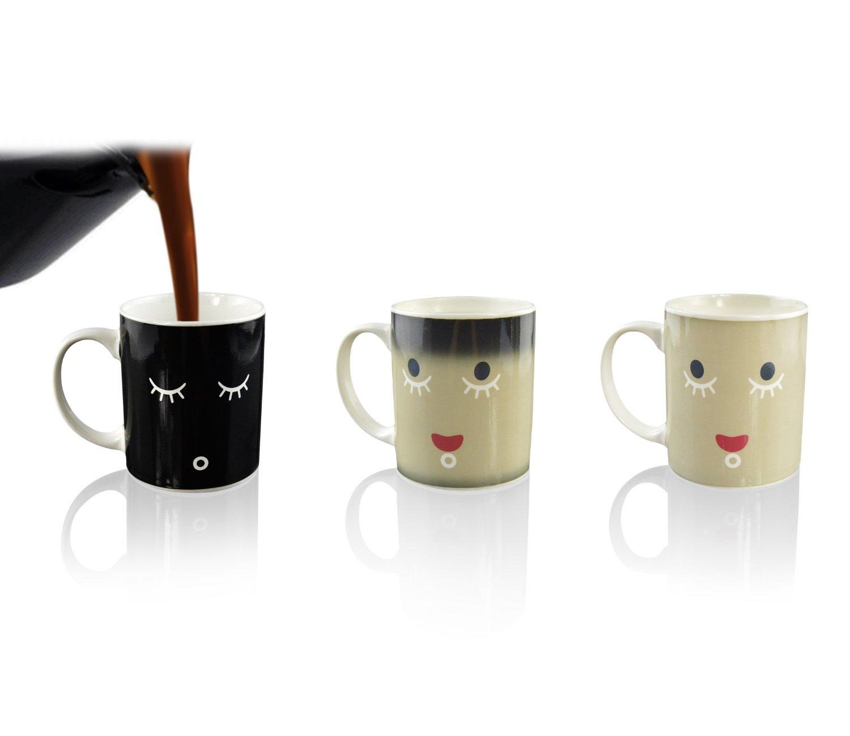ipow Kreativ Farbwechsel Mug Cup Getr/änkew/ärmeempfindliche kaffeetasse Milch Becher Tee Cup 2er-Set