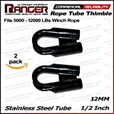 Ranger 12MM 1/2' Stainless Steel Rope Tube Thimble with GUSSET for 3/8' or 1/2' Wire or Synthetic Winch Rope by Ultranger Diameter of (Pack of 2)