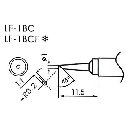 AOYUE WQ/LF-1BC Puntas soldadura sin plomo Ø1.0mm R0.