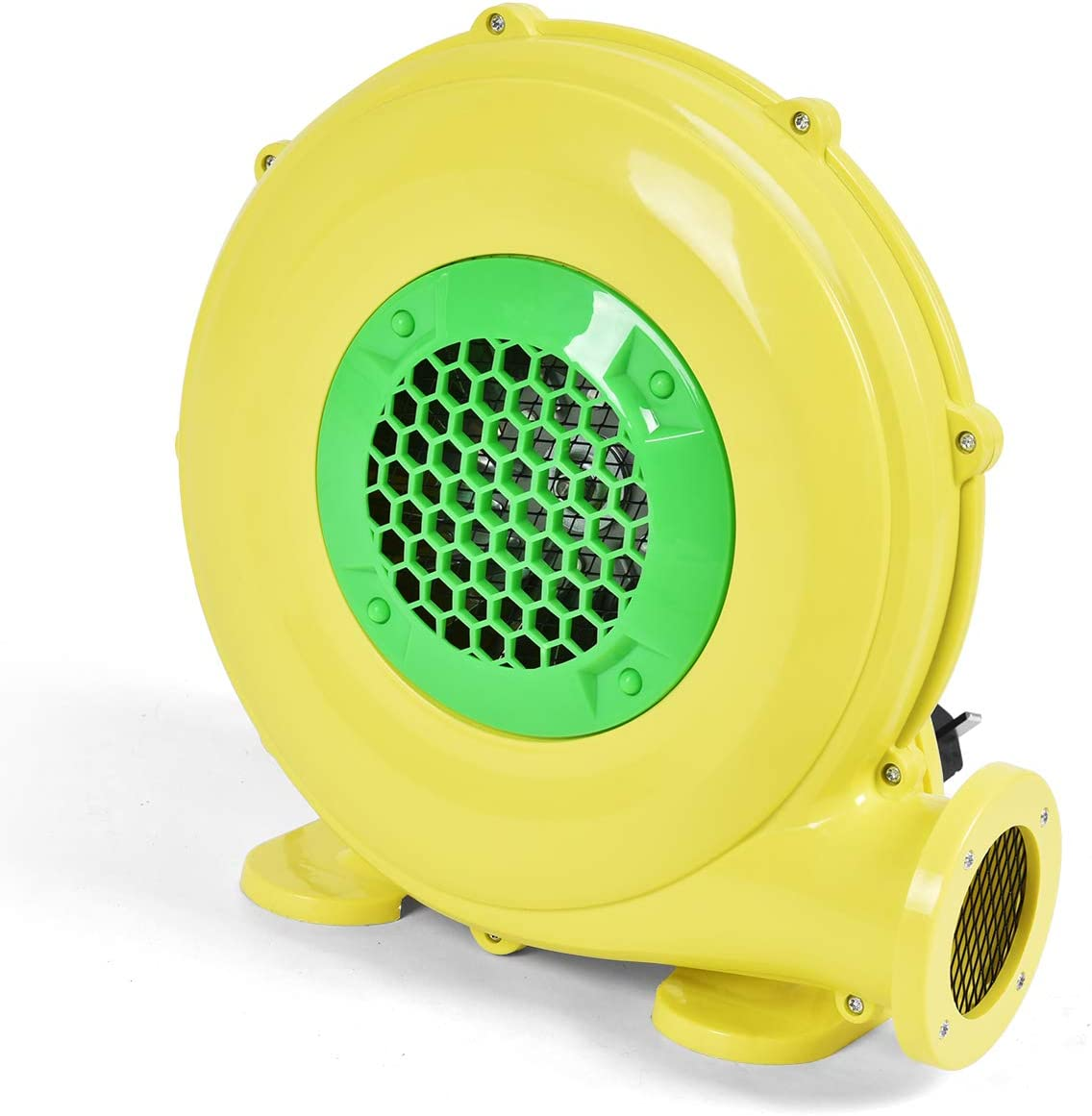 Costzon Air Blower, Pump Fan Commercial Inflatable Bouncer Blower, Perfect for Inflatable Bounce House, Jumper, Bouncy Castle 480 Watt 0.64HP Yellow