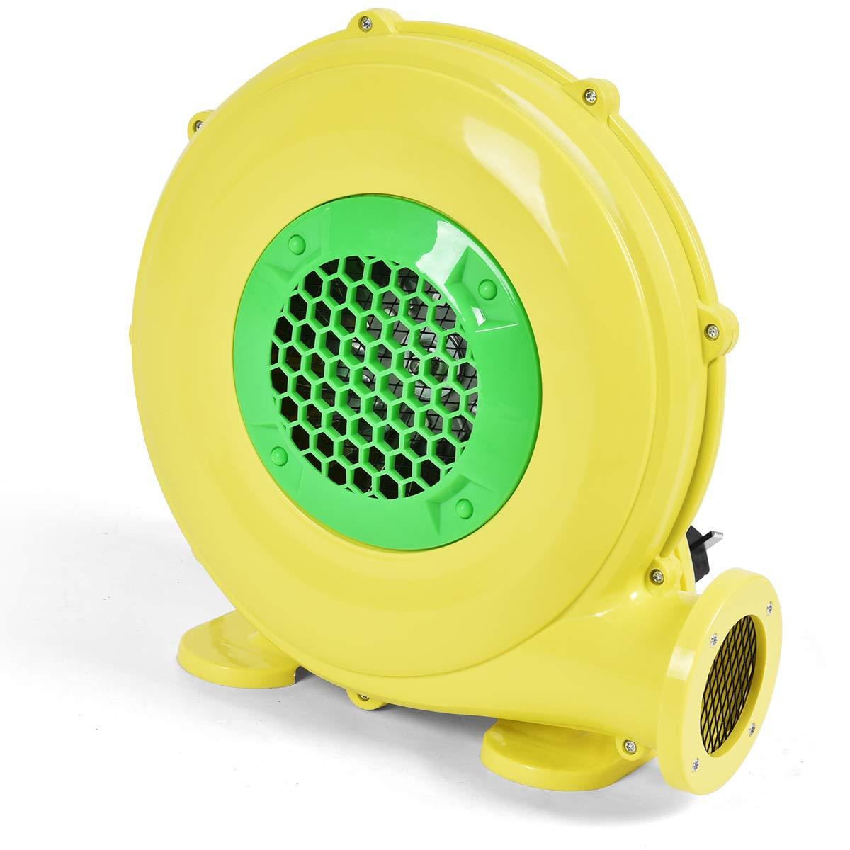 Costzon Air Blower, Pump Fan Commercial Inflatable Bouncer Blower, Perfect for Inflatable Bounce House, Jumper, Bouncy Castle 480 Watt 0.64HP Yellow