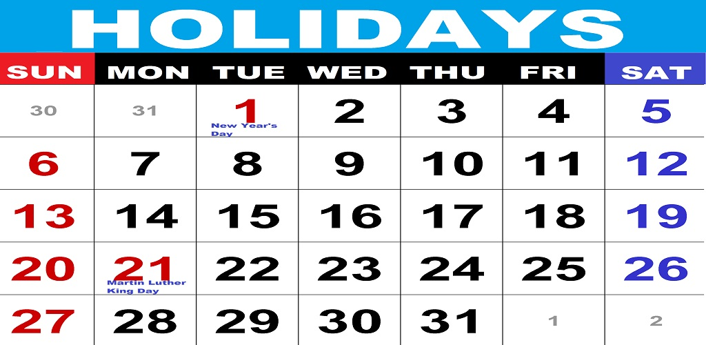 Holiday Calendar World Calendar Public Holidays Calendar Available