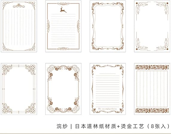 Writing Paper Stationery Vintage Letterhead Letter Paper 80 sheet European Style