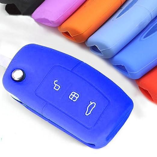 1 opinioni per Muchkey in Silicone Auto chiave cover pelle Giacca per Ford 3pulsanti 1pc
