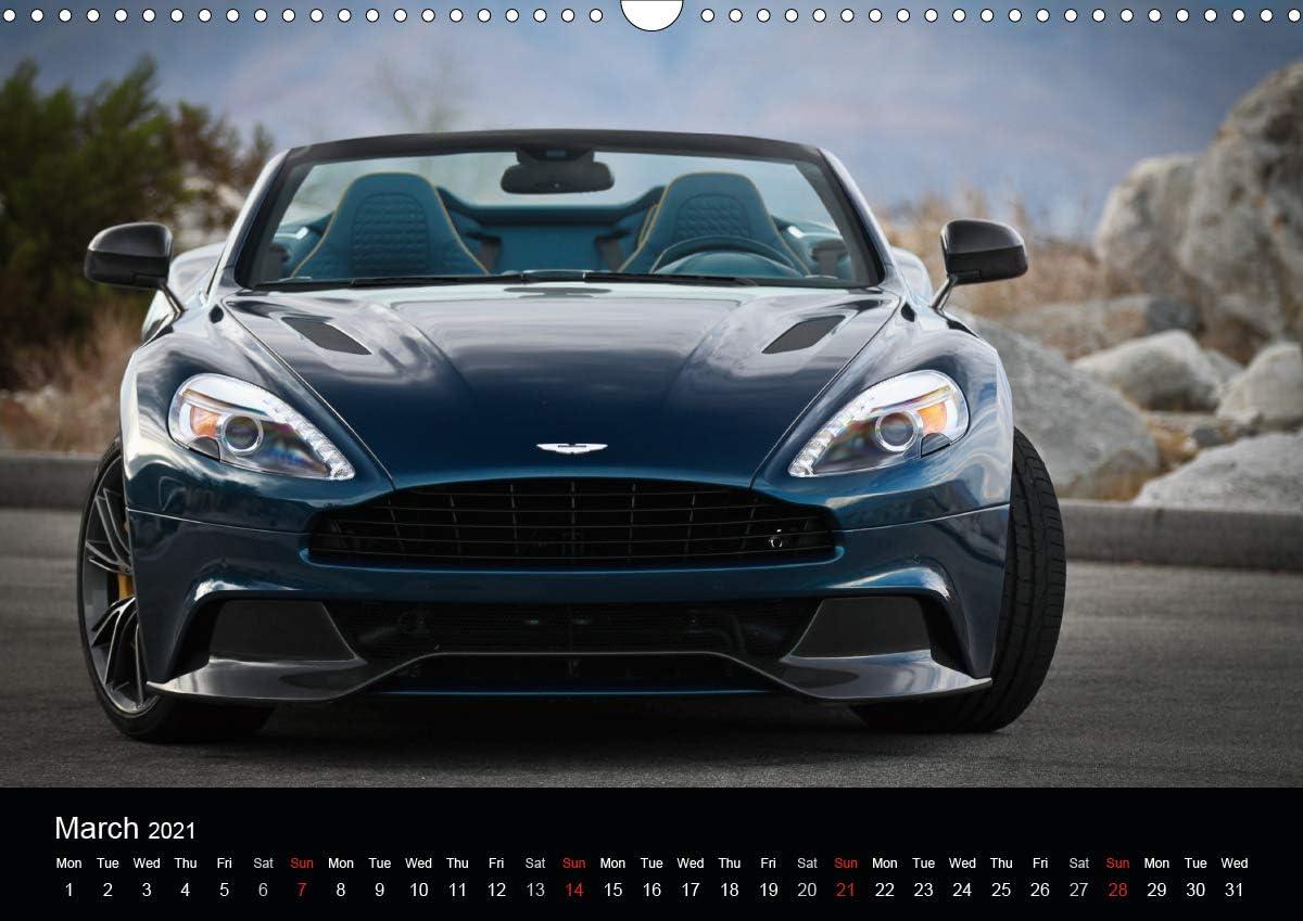 Aston Martin Vanquish Volante Uk Version Wall Calendar 2021 Din A3 Landscape Amazon De Wolff Juergen Bücher