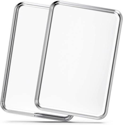 Baking Sheets Set Of 2 Bastwe 20 Inch Stainless Steel Bakeware Baking Pans Healthy Nontoxic Rustproof Easy Clean Dishwasher Safe Amazon Ca Home Kitchen