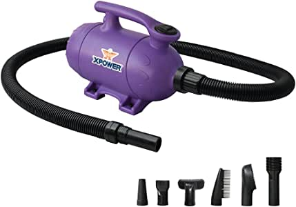 XPOWER B-2 Pro-at-Home 2-in-1 Dog Grooming Pet Force Dryer and Vacuum