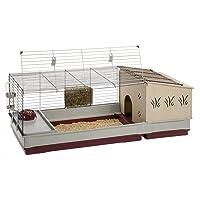 Ferplast Krolik Rabbit Cage | Extra-Large Rabbit Cage w/Wood or Wire Hutch