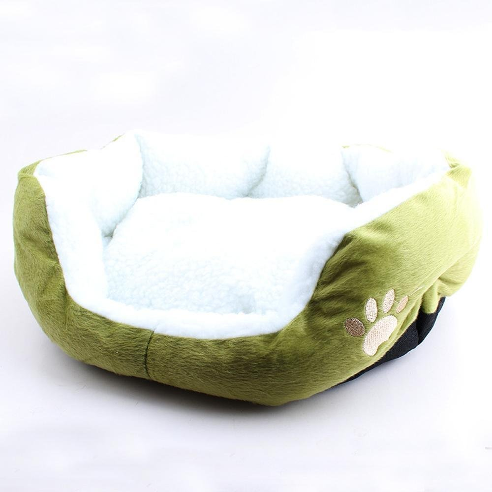 A MONFS HOME Pet Bolster Dog Bed Comfort Kennel Pet Mat Lamb Kennel (color   A)