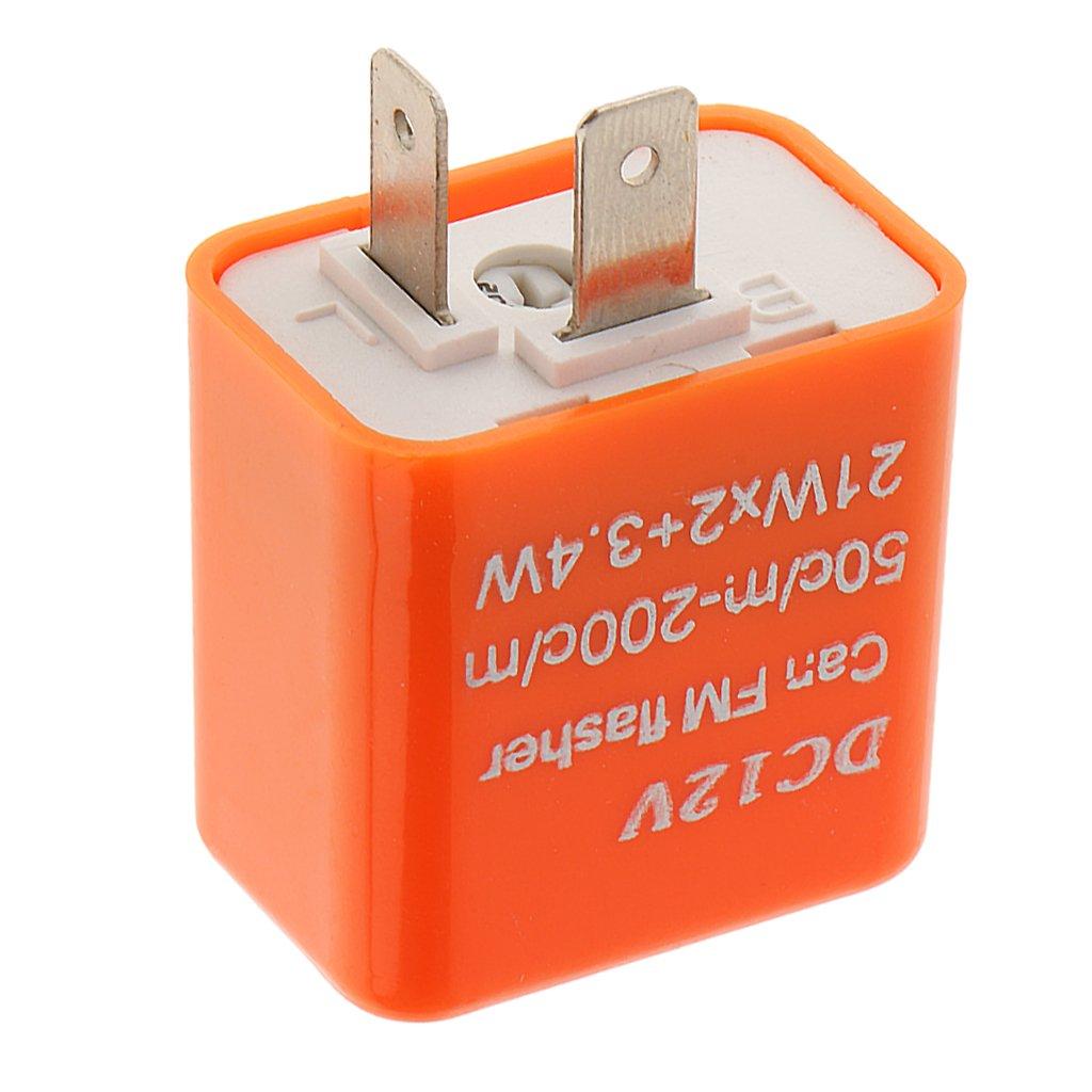 2pin Correcci/ón Intermitente de Rel/é Electr/ónico para L/ámpara de Se/ñal Vuelta LED Flash Hiper 12V