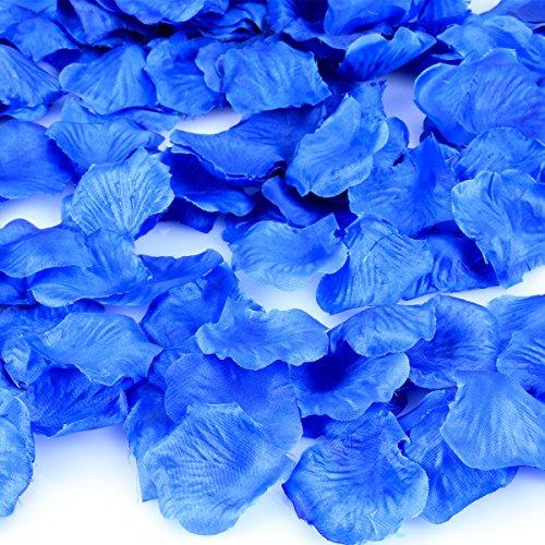 HCSTAR 300pcs Silk Rose Petals Artificial Flower Wedding Party Vase Home Decor Bridal Petals Rose Favors,Blue (Home Decor Near Me)
