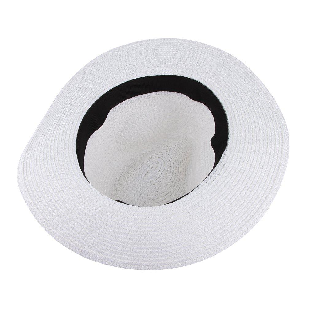 7adbe1b3282 Gemvie Men s Straw Hats Beach Cap Fedora Sun Hat Trilby Panama Jazz Hat  Beige at Amazon Men s Clothing store