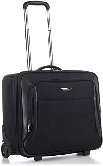 Roncato Business Trolley Pc 17' Soft Shell Biz 2.0 - Hand Luggage cm. 47.5x45x25 Capacity 35 L, Lightweight, Internal Organizer, Approved for Easyjet, Warranty 2 Years