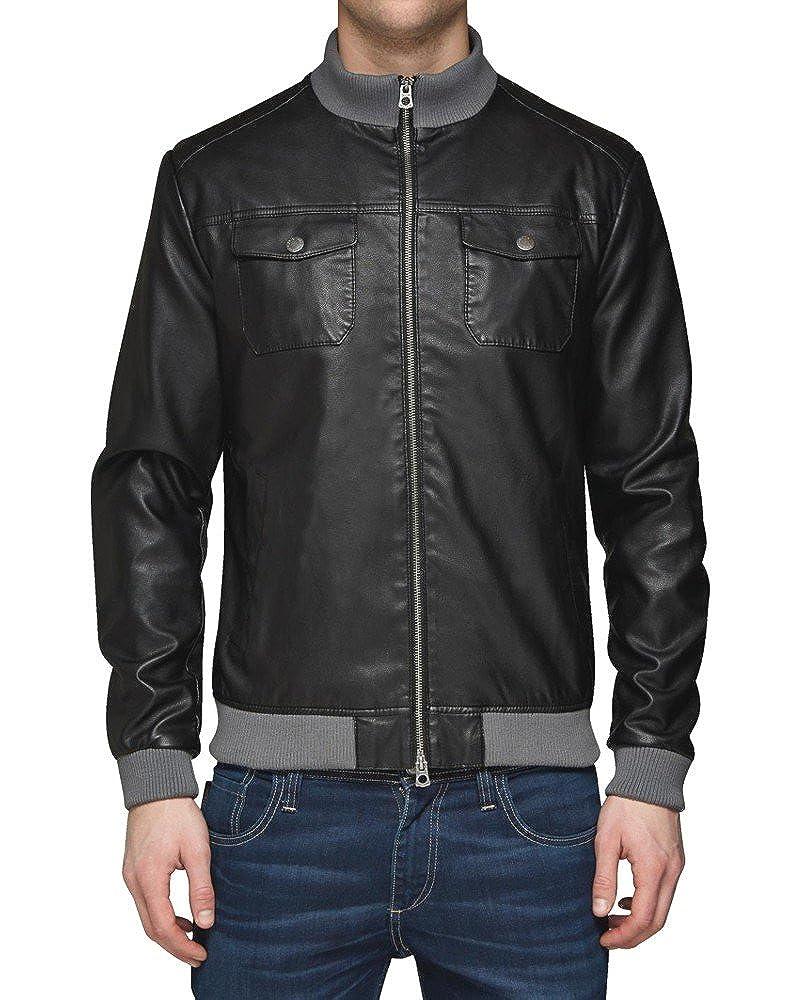 d8055757b3b6df Herren Jack   Jones Evolution Jacket Lederjacke Jacke 6600