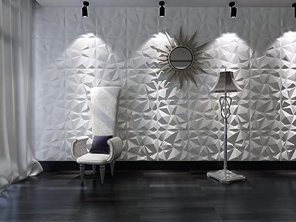 Paneles Decorativos 3D - Pannello decorativo in 3D per muri interni, motivo  rombi, 100% ecologico, in bambù, 12 pannelli, dimensione di ciascun ...