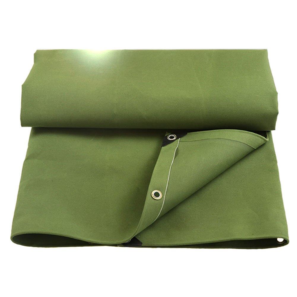 QX pengbu IAIZI Heavy Duty Plane Double Grün Outdoor Camping Schatten Abdeckung aus dicken Canvas - 100% UV-geschützt - 420 g m², Dicke 0,6 mm