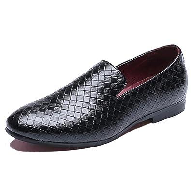 Unisex Couple Slip On Lattice Loafer Shoes