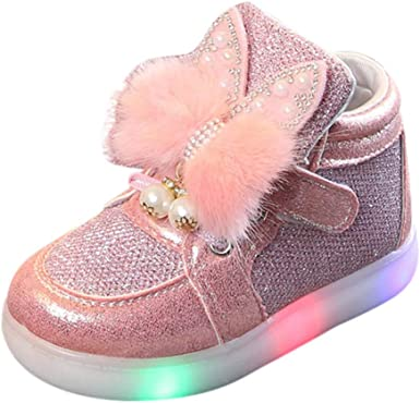 Kids Baby Infant Girls Cute Bunny LED
