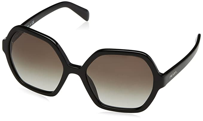 fc83c8d191fb2 Amazon.com  Prada Women s 0PR 06SS Black Grey Gradient Sunglasses ...
