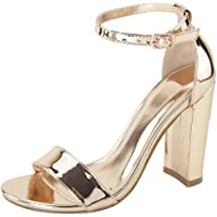 Cambridge Select Women's Open Toe Single Band Buckle Ankle Strappy Chunky Wrapped Block High Heel Sandal