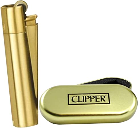 Mechero de metal de Clipper, con caja cromada: Amazon.es: Hogar