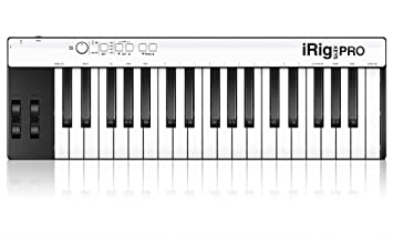 IK Multimedia iRig Keys Pro Mobile MIDI Keyboard with Full Size Key for  iPhone, iPad, iPod touch, Mac and PC - Black/white