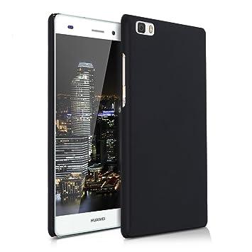 kwmobile Funda compatible con Huawei P8 Lite (2015) - Carcasa [trasera] de [silicona] - Cover duro en [negro]
