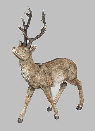 Hirsch Rentier Reh Bock Elch Gartendeko Deko Garten Tier Figur Skulptur Statue