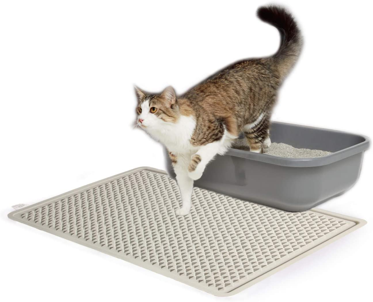 ALL FOR PAWS Water Resistant Mesh Cat Litter Mat