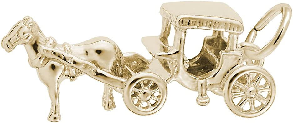 Charms for Bracelets and Necklaces 10k Yellow Gold Baby Carriage Charm